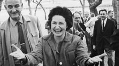 Lady Bird Johnson, shown in 1963, made highway beautification her cause as first lady.  There was a time when drivers threw garbage out the window without a thought, that rarely happens now.