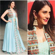 Bollywood fashion 307863324528542140 - sky muslin silk digital printed bollywood style lehenga with … Source by daphnig Lehenga Choli, Lehnga Dress, Anarkali, Jacket Lehenga, Bollywood Lehenga, Bollywood Dress, Bollywood Suits, Lehenga Style, Silk Dupatta