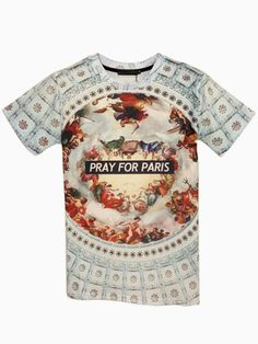 Painting And Text Print Unisex T-shirt | Choies