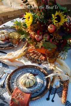 Fall Tablescape....from the Home is Where the Boat Is.