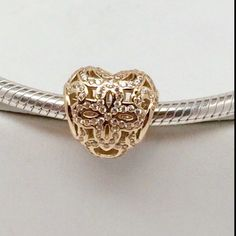 New Pandora 14k Love And Appreciation Charm This is a New 14K Authentic Pandora Charm Comes in Pandora Hard Box. No Trades. Please. All Hallmarked and properly stamped. If any questions or concerns please drop me a note. Thanks and Happy Shopping. Oh, if you need anything special just let me know and I will do my best to get you what you want. Pandora Jewelry Bracelets