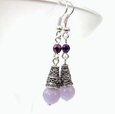 Handmade lavender gemstone earrings by Beadstorm Jewellery