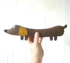 Weiner Dog PATTERN // Stuffed Dachshund Felt Soft Toy PDF // Easy // Instant Download
