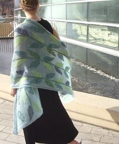verdant by susan newhall - ambitious and gorgeous blended intarsia project - free pattern on knitty (spring-summer 2011)