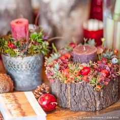 Autumn Arrangements - Candle Holders DIY Fall (Diy Photo Decorations) Source by irenee Diy Photo Decorations, Decoration Table, Flower Decorations, Diy Flowers, Christmas Wreaths, Christmas Crafts, Christmas Decorations, Christmas Décor, Diy Candle Holders