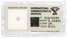Brilliant IGI 0,244 Brillant Lupenrein Wesselton Juwel! - Diamanten unter Grosshandelspreis mit IGI HRD DPL GIA Zertifikat,…