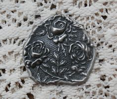 Last one of these:  Ornate Roses and Leaves, Art Nouveau Victorian Edwardian Style Metal Craft Piece, Silver Color http://etsy.me/2EYrJKH #housewares #homedecor #silver #remodel #teamwwes #artnouveau #aestheticmovement #victorian #flowers #forsale #etsycraftsy #crafts