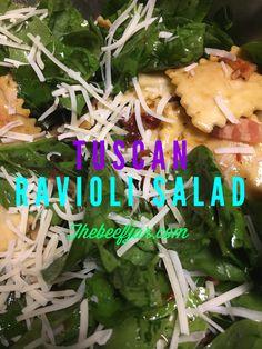 Tuscan Ravioli Salad