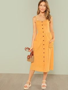 Linen Dresses, Cotton Dresses, Casual Dresses, Couture Dresses, Fashion Dresses, Fashion Pics, Fashion Brands, Elegant Backless Dress, Long Summer Dresses