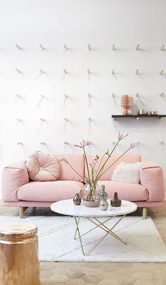 Décoration intérieure / Couleur / Rose pink / canapé sofa mobilier meuble / idée…