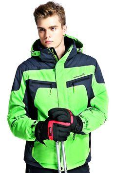 WHS Men's Waterproof Mountain Jacket Windproof Ski Jacket Warm Winter Coat