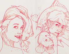 "Check out new work on my @Behance portfolio: ""Girls With Fishes"" http://be.net/gallery/33816736/Girls-With-Fishes"