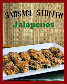 Stuffed Jalapeno Peppers ~ only three ingredients for the stuffing.  Super easy and oh so good !