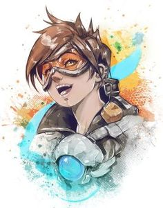 I definitely want more Story stuff when it comes to Overwatch it's a slow drip feed at the moment Tracer by VVernacatola Overwatch Mercy, Overwatch Tracer, Overwatch Drawings, Overwatch Comic, Overwatch Gifs, Overwatch Tattoo, Overwatch Genji, Character Concept, Character Art