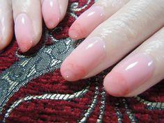 Marbled pink tips   Nail Art