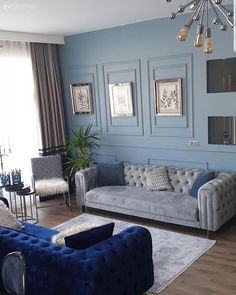 Bu Evin Serin Renkleri Şık Dekorasyona Taze Bir Nefes Katıyor Cool Colors of this House Add Fresh Breath to Stylish Decoration Home Design, Decor Interior Design, Salon Design, Living Room Designs, Living Room Decor, Living Spaces, Home And Living, Home Accessories, Home Furniture