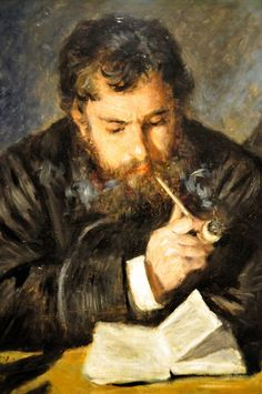 Auguste Renoir - Claude Monet, 1872 at East Wing - National Art Gallery Washington DC  Also viewed at the Legion of Honor Fine Arts Museums of San Francisco CA for Intimate Impressionism from the National Gallery of Art