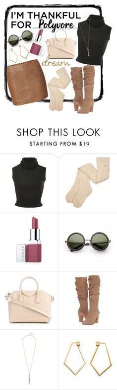 """""""Untitled #121"""" by emily-dominguez321 ❤ liked on Polyvore featuring See by Chloé, Brandon Maxwell, UGG, Clinique, Givenchy, Steve Madden, Cole Haan, Dutch Basics and imthankfulfor"""
