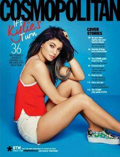 Cosmopolitan Magazine, Kylie Jenner, Bikinis, Swimwear, Attitude, Girly, Hollywood, Magazine Covers, Friends