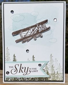 Handmade BIRTHDAY Card Kit, Set Of 4 STAMPIN' UP The Sky Is The Limit, Sale-A-Bration by decamerax3 on Etsy