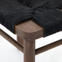 Wood Stool, Teak Wood, Root Color, Textures And Tones, Black Rope, Cotton Rope, Vintage Cotton, Accent Pieces, Black Cotton