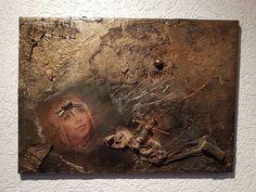 Decoupage+Mischtechnik+Kunst+Bild+Scrapbooking+Unikat+Steampunk+Vintage+Heilerin