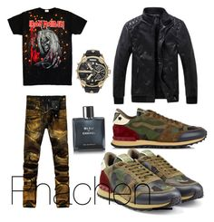 """""""Untitled #7"""" by prettysage on Polyvore featuring Chanel, Diesel, Valentino, men's fashion and menswear"""