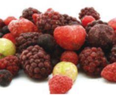DECOME    Mixto de Frutas del Bosque, Una mezcla de frutas silvestres compuesta por moras, arándanos, grosellas y migas de frambuesas. Congelado. Formato bolsa de 1 Kg. Caja con 5 Kg.  Caja de 5 unidades.