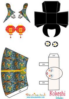 Kokeshi Ichiko Papercraft