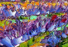 Original oil painting Lavender Fields landscape by Karensfineart
