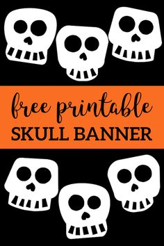 Halloween or Day of the Dead banner printable template decor. Halloween Banner, Halloween Skull, Halloween Themes, Halloween Crafts, Halloween Printable, Printable Halloween Decorations, Halloween Snacks, Halloween 2019, Diy Hanging Shelves
