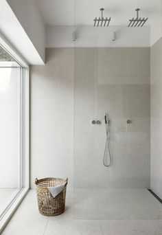 Are you looking for some minimalist bathroom ideas? Here we have several pictures of minimalist bathroom decor ideas you try. No matter how big or small your bathroom is, decorating this room… Continue Reading → Bathroom Renos, Laundry In Bathroom, Bathroom Interior, Bathroom Ideas, Washroom, Bathroom Large Tiles, Cement Bathroom, Bathroom Small, Design Bathroom