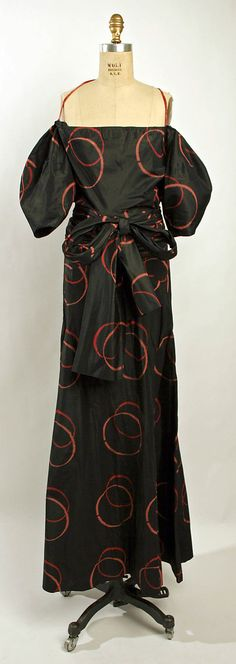 Evening dress, Madeleine Vionnet  (French, Chilleurs-aux-Bois 1876–1975 Paris)   Date: spring/summer 1935 Culture: French Medium: silk