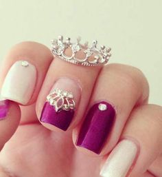 Hello miss apple queen crown ring in silver