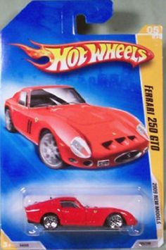 Hot Wheels 2009 New Models Ferrari 250 GTO w/ WSPs (LWs)#005 (05 of 42) 1:64 Scale by Mattel. $2.50. 2009 New Models. Excellent Detailing!!!. Officially licensed by Ferrari. With a 12-cylinder engine and classic Ferrari body style, this highly sought-after sports car was made to become the benchmark for all others.