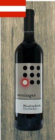 VINHO: Blaukfränkisch Hochäcker (tinto) VINICOLA: Weninger REGIÃO: Burgenland- Áustria CARACTERÍSTICA:É elegante maravilhoso,com notas de ameixas e frutas negras.