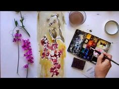 Watercolor Painting Demonstration Sweet Peas Vinita Pappas