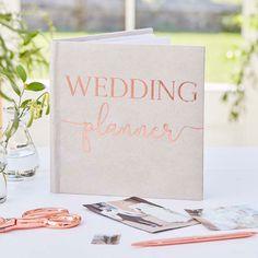 Wedding Planner Rose Gold Book, Rose Gold Wedding Decor, Foil Shimmer Script Book, Bridal, Bride To Wedding Planning Book, Wedding Book, Wedding Gifts, Gold Wedding Decorations, Garland Wedding, Wedding Places, Wedding Place Cards, Wedding Prep, Plan Your Wedding