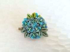 Hey, I found this really awesome Etsy listing at https://www.etsy.com/listing/208957283/japanese-hair-clip-brooch-blue-blossom