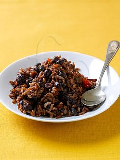 Cuban Black Beans and Rice, Moros y Cristianos, Cuban Food / also, once you click on actual picture.  Click on Cuban recipes and you will find a lot more.  :). They all look great.