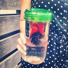 MASON JAR FRUIT INFUSER GLASS!!  Clear or colored glass!  https://www.etsy.com/listing/190713256/ball-mason-jar-fruit-infuser-with-jar?ref=shop_home_active_2