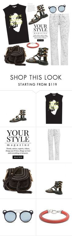 """Silence Please!"" by badassbabyboomer ❤ liked on Polyvore featuring McQ by Alexander McQueen, Pussycat, MM6 Maison Margiela, Chloé, Ray-Ban and Isabel Marant"