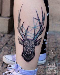#deertattoo #deer #kulttattoofest #kult #mskudutattoo #mskudu #geometry…