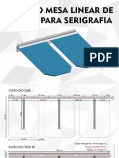 Projeto Mesa Linear de Parede Para Serigrafia Screen Printing Equipment, Screen Printing Press, Lion Vector, Linear, Diy Table, Apparel Design, Printed Shirts, Diy And Crafts, Screenprinting