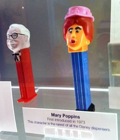 Rare Mary Poppins PEZ dispenser. Is that Colonel Sanders to the left?