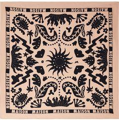 b5a36da75 I like the design on this silk scarf by Scotch & Soda. Cool Bandanas,