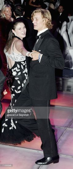 Pierre Casiraghi and Melanie de Massy dance at the Monaco Red Cross Ball, under the Presidency of HSH Prince Albert II, in the Salles des Etoiles at the Sporting Monte Carlo on August 4, 2006 in MonteCarlo, Monaco. For its 58th anniversary, the Red Cross Ball welcomed Duran Duran for a unique concert.