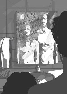 Sherlock Irene Adler, Sherlock Holmes, Lara Pulver, Benedict Cumberbatch, Detective, Fictional Characters, Art, Art Background, Kunst