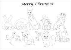 Christmas Cards Coloring Pages. Pages Of Merry  And
