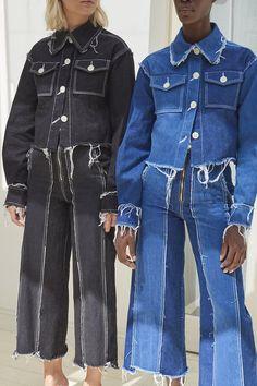 Tessa Blue Denim Raw Edged Jacket